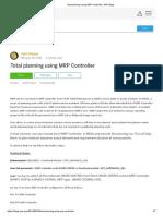 Total planning using MRP Controller _ SAP Blogs