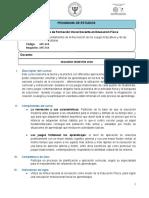 PROGRAMA FUNDAMENTOS DE LA RECREACION DE LOS JUEGOS Y CULTURAS  APE-468