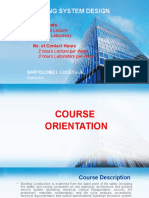 BUILDING SYSTEM DESIGN Course Orientation