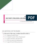DFT20083_2.1 Describe Security Policy