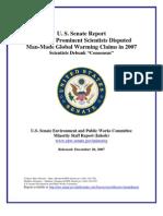 Global Warming - US Senate Report