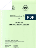 BEM Mandatory Course on Code of Ethics/ Regulations