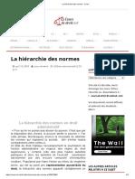 La hiérarchie des normes - Cours.pdf