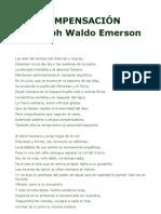 COMPENSACIÓN Ralph Waldo Emerson