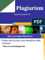 Lecture # 12AVOID PLAGIARISM
