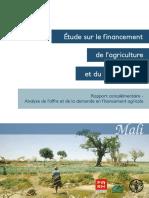 Etude sur le financement de l'agriculture rural