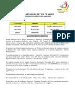 REGLAMENTO DE FÚTBOL DE SALÓN 2015