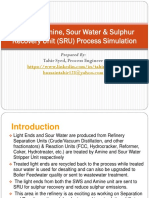 Refinery Amine, Sour Water, SRU HYSYS Simulation