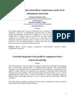 Integración curricular del perfil por competencias a partir de un ordenamiento transversal.