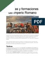 Tacticas y formaciones del ejercito romano