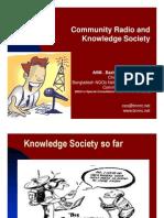 Community Radio and Knowledge Society