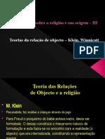 6 - Relações de objecto e religião