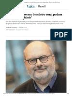 'Políticas do governo brasileiro atual podem elevar desigualdade' _ Brasil _ Valor Econômico