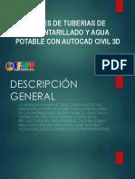 REDES DE TUBERIAS DE ALCANTARILLADO Y AGUA POTABLE CON AUTOCAD CIVIL 3D
