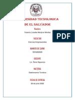 Yesenia Menjivar Historia de la gastronomía.
