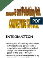 Conveying APU-PBU