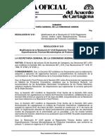 Resolución 2151 modifica la Resolución 2120 RTA sobre Especificaciones T.._