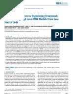 A Model Driven Reverse Engineering Framework for Generating High Level UML Models From Java Source Code