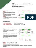 Resolució de circuits de CC mitjantçant les Lleis de Kirchhoff