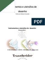 Instrumentos e utensílios de  desenho