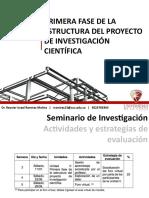Unidad II. Primera fase de la estructura del proyecto de investigación científica
