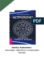 Astrologie.Algoritmul Cunoștințelor Secrete