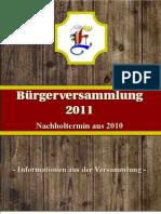 Buergerversammlung v. 21.01.2011 (Bericht)