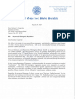 Sisolak - SOS Re Request for Emergency Regulation
