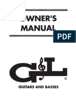 G&L Guitars, user manual