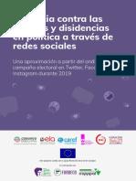 Violencia contra mujeres y disidencias en política a través de redes sociales