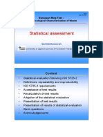 Statistical assessment ISO 5725