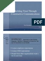 Building Trust through Constructive Communication
