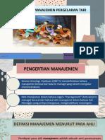 Prinsip Manajemen Pergelaran tari