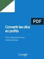 Outils Google-Comment convertir les clics en profits