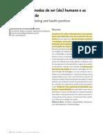 Cuidado, os modos de ser humano e as práticas de saúde _ josé Ricardo Ayres