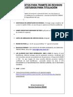 REQUISITOS REVISION DE ESTUDIOS