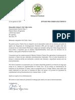 Carta Nelson Del Valle - Solicitud de Renuncia