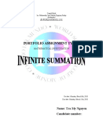 IB MATH PORTFOLIO 1 - Infinite Summation