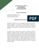 Analisis financiero de Artesanias de Colombia