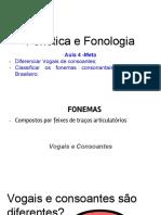 Aula 4 - Classificação fonemas vogais e consoantes 2018