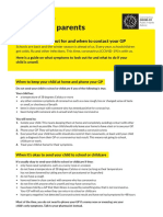 information from hse for parents
