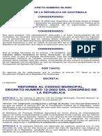 Reforma al codigo municipal