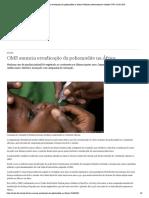 OMS anuncia erradicação da poliomielite na África _ Notícias internacionais e análises _ DW _ 25.08.2020