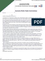 Audio  John von Neumann (Public Radio Commentary by Bill Hammack)