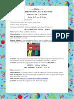 ACTIVIDADES DIA 3 DE JUNIO