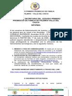 AVISO No. 005 CANALES JUZGADO PRIMERO