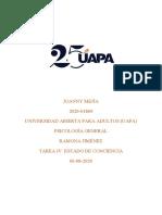 TAREA IV PSICOLOGIA GENERAL