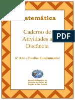 Caderno de Atividades a Distância 6º Ano Do Ensino Fundamental