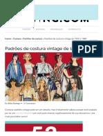 53 padrões de costura vintage da década de 1920 até 1980 _ Projetos de costura