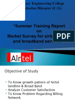 LCM Summer Training Project Market Survey for Airtel Landline and Broadband Services
